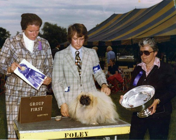 David's first ever group win came when he handled Ch Quilkin The Stringman under Anne Rogers Clark at the Longshore Southport show in June 1977.
